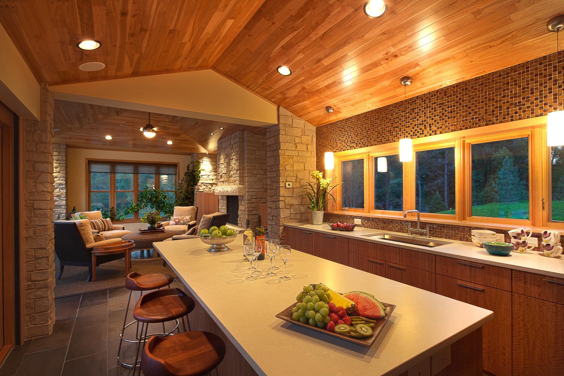 Swim up indoor outdoor kitchen