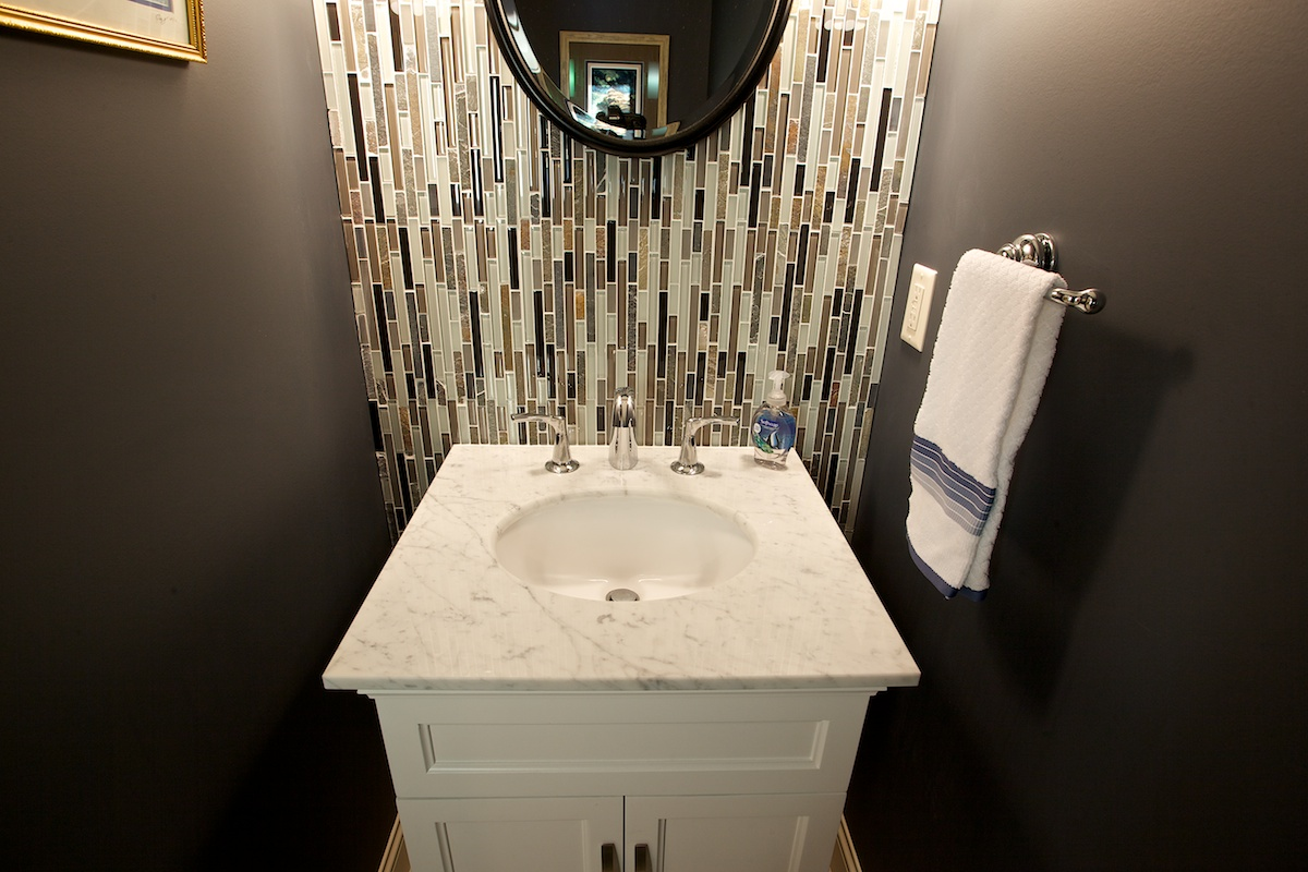 Stillwater updated ranch style home powder room remodel